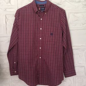 Young men's long sleeved button down